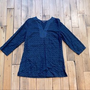 Brooks Brothers Navy Embroidery Tunic